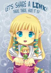 -- Zelda: Share a Link -- by Kurama-chan