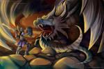 - Com. for Soul-Dealer : Paladin x Black Dragon - by Kurama-chan