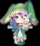 -- Date a Live Commission : Chibi Yoshino -- by Kurama-chan