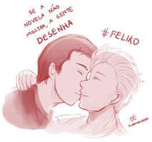 -- Feliko : We want a Kiss -- by Kurama-chan
