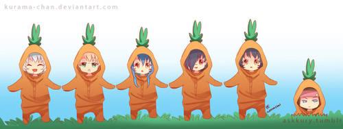 -- DMMD: Chibi carrots -- by Kurama-chan