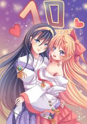 -- Commission : Kannazuki no Miko 10 years -- by Kurama-chan