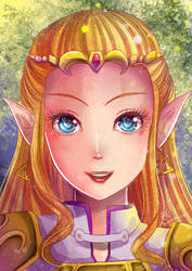 -- Commission : OOT Princess Zelda -- by Kurama-chan
