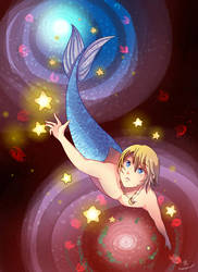 -- Commission: Merman in Wonderland -- by Kurama-chan