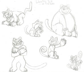 The Deadly Six using the Cat Suit Power-up by Feral101