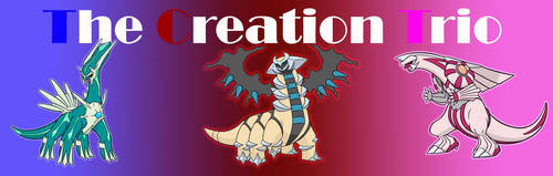 Shiny Creation Trio Banner by Feral101