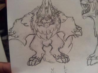 Werewolf doodle by Feral101