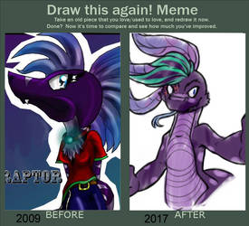 Before after: Becky by RaptorOFire