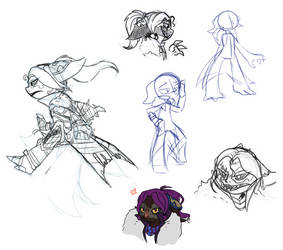 Asura sketch dump by RaptorOFire