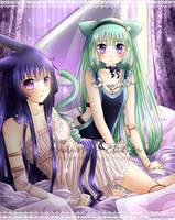Eos and Selene by o-Aiumi-chan-o