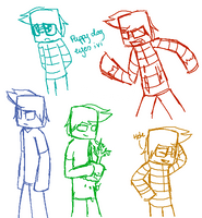 Herobrine sketches by Gameaddict1234