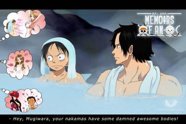 One Piece FF. Ace Luffy - Bath by TenshiNoFuu