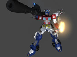 Optimus Prime Gundam 2 by maverick8
