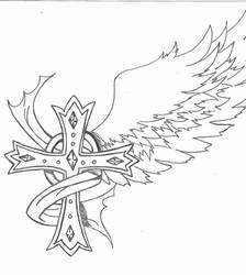 Tattoo request - Cross by angelwings987