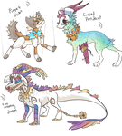 3 Adoptables CLOSED by lUPISVUIPES