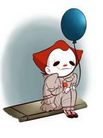the loner clown by Sadisticthoughtz