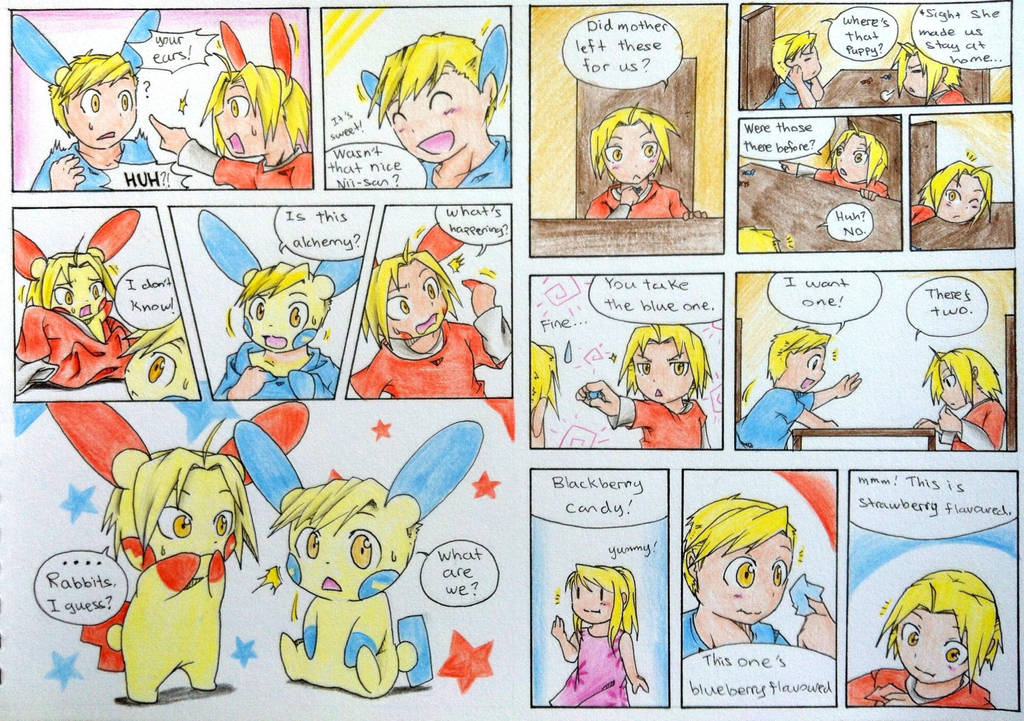 Young Elric brothers Pokemon TF (Part 1) by FezMangaka on