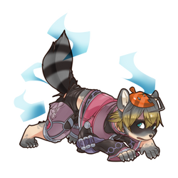 Commission- Shulk's Raccoon TF by FezMangaka