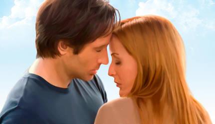 Mulder and Scully by Lestatslover84