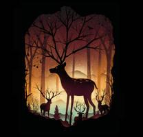 In the Deer Woods by dandingeroz
