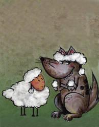Lobito y oveja by Dark-Elve