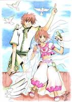 Sakura y Shaoran by Dark-Elve