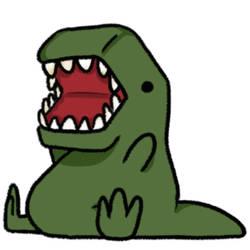 Fat T-Rex by PrezLollipop