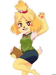 isabelle from Animal Crossing by dannukha