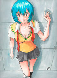 #22 - Rei Ayanami by Misaky