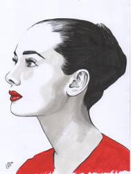 Audrey Hepburn by Misaky