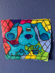 Blue Clues Art Colorful Design Drawing  by NWeezyBlueStars23