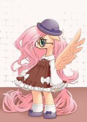 Fluttershy in a Lolita dress by unousaya