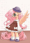 Fluttershy in a Lolita dress by unousaya