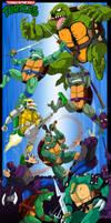 Teenage Mutant Ninja Turtles - Turtle War by Ishida1694