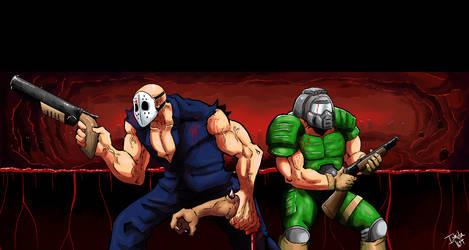 Rick Taylor and Doom Guy by Ishida1694