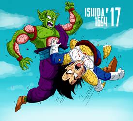 Piccolo defeats Vegeta by Ishida1694