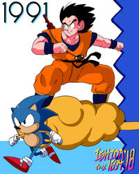 Goku and Sonic '91 by Ishida1694