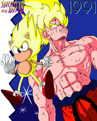 SSJ Goku and Super Sonic '91 by Ishida1694