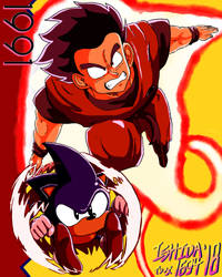 Kiaoken Goku and Flame Shield Sonic '91 by Ishida1694