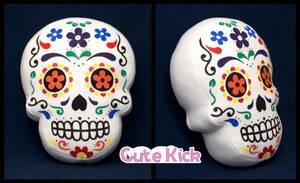 Sugar Skull Pillow by cutekick