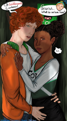 Kyle and Nichole: Smooching in the closet by radchoco