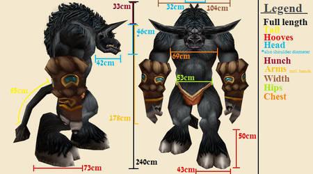 Tauren Costume - Measurements by rastafarianpilgrim