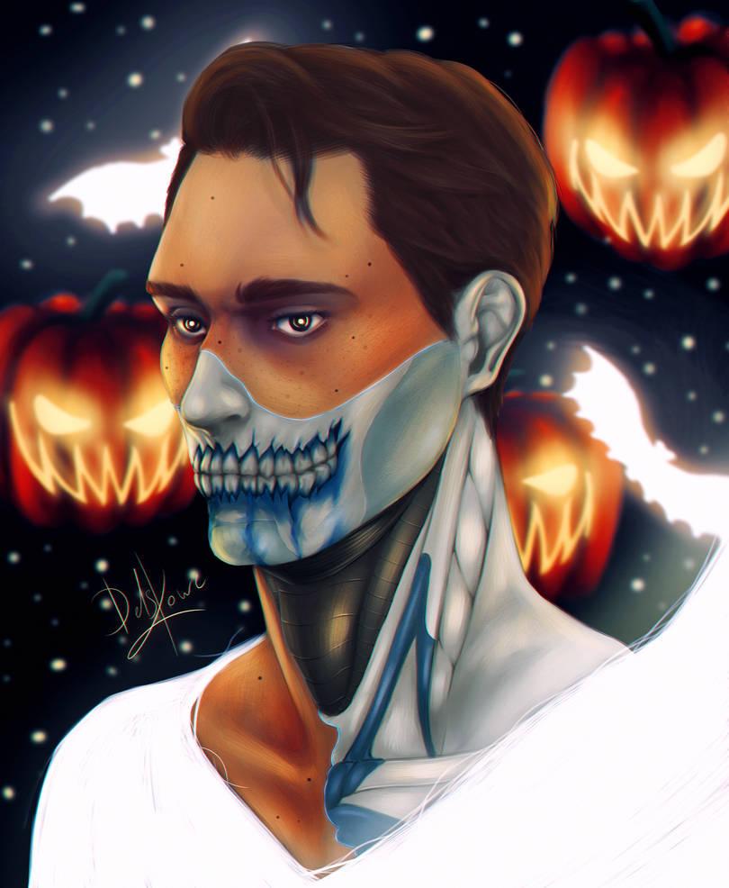 Detroit: Become Human - RK800 - Halloween by Lulu-E-Lin