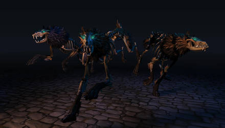 Skeleton  Wolves Trio by 100chihuahuas