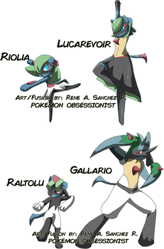 Pokefusion Gardevoirgallade X Lucario By Rene Sanchez On Deviantart