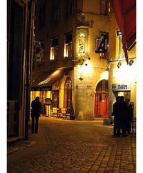 Cobblestone street by Elorine