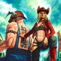 COW GIRL by tman2009