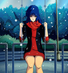 Lynn Minmay loneliness by OmegaSupreme