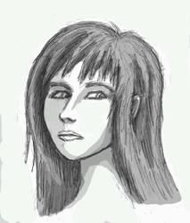 Girl with long hair by LovgrenO