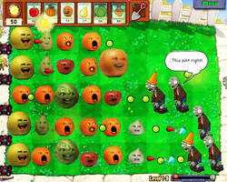 Annoying orange in plants vs zombies by ninj9